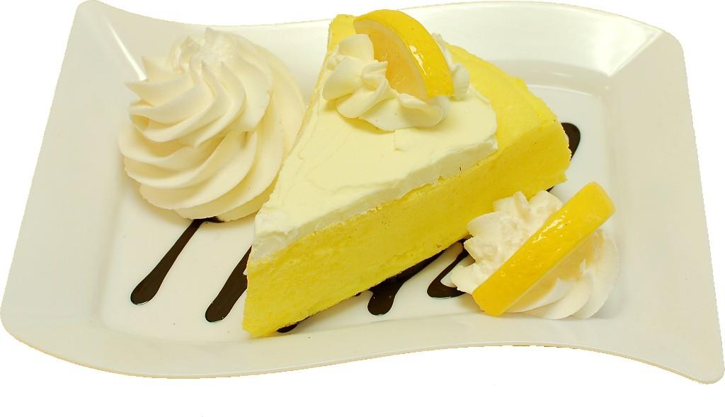 Lemon Cake and Strawberry Fake Dessert Plate