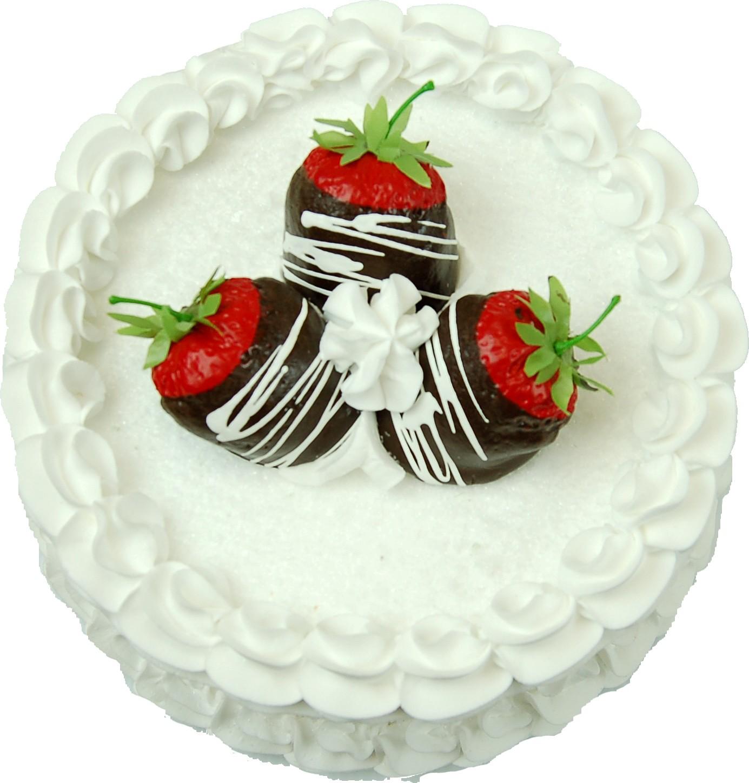 Strawberry Coconut Fake Cake top