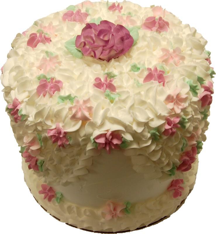 fake tall cake flowers