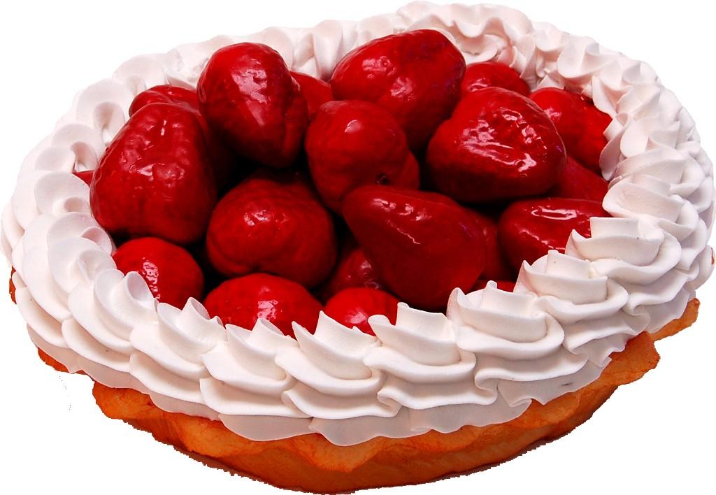 Strawberry Cream Artificial Pie no dish
