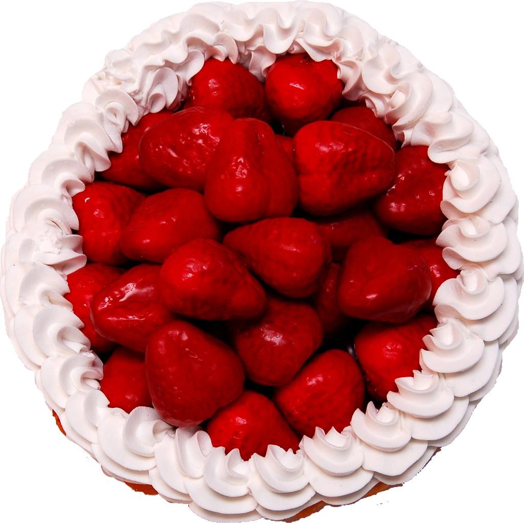 Strawberry Cream Artificial Pie top