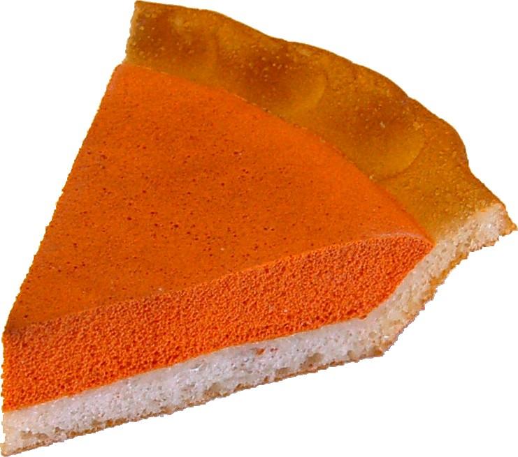 Pumpkin Pie Plain Fake Pie Slice