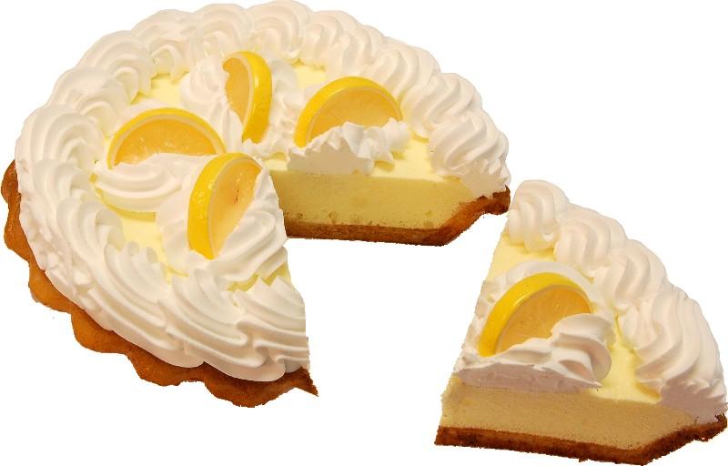 Lemon Cream Artificial Pie with Slice