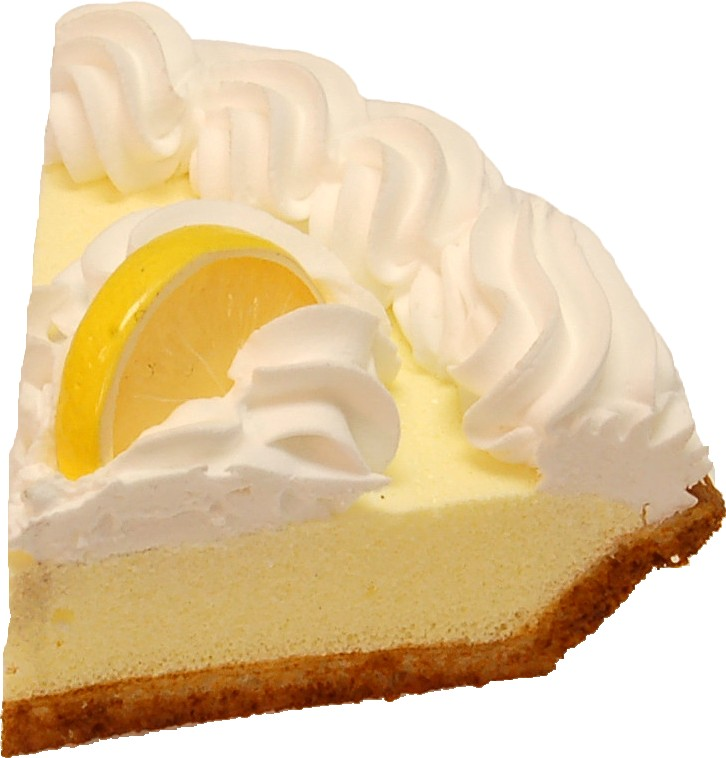 Lemon Cream Artificial Pie Slice