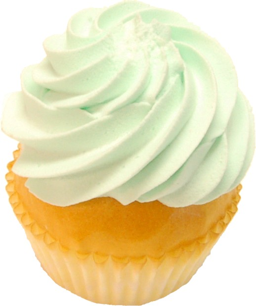 Pale Green Fake Cupcake