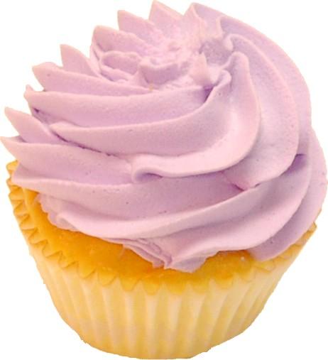 Pale Lavender Fake Cupcake