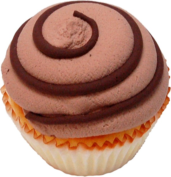 Chocolate swirl fake cupcake