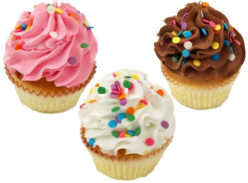 Fake Cupcakes 3 Pack Sprinkle