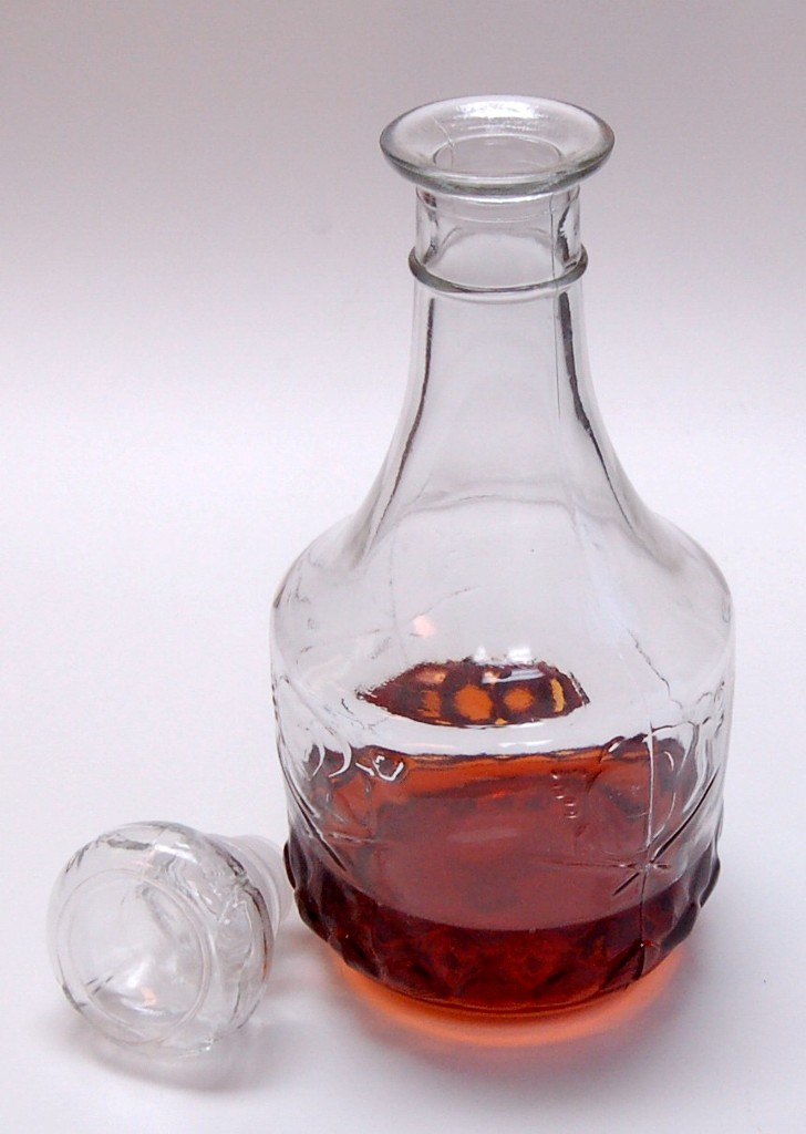 Whiskey Decanter Glass Top
