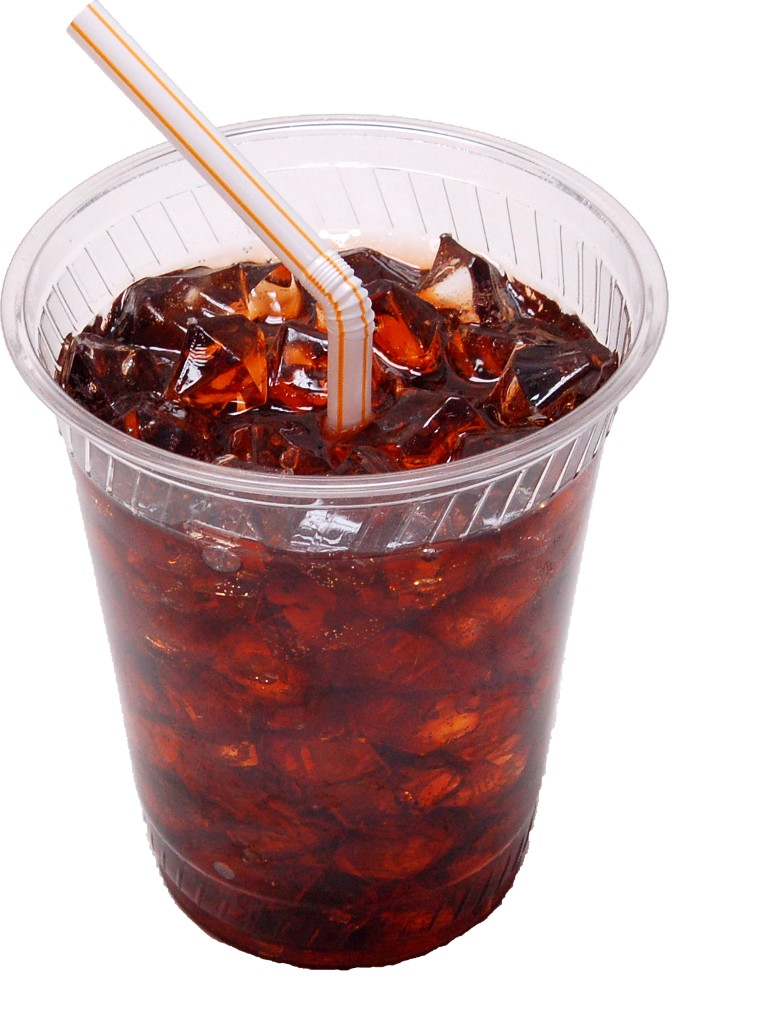 Fake Cola Soda with Ice Plastic Cup