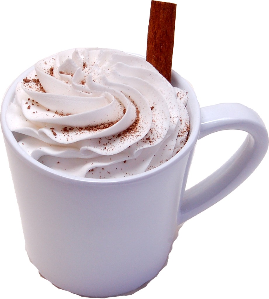 Hot Chocolate Mug Fake Drink with Cinnamon Stick