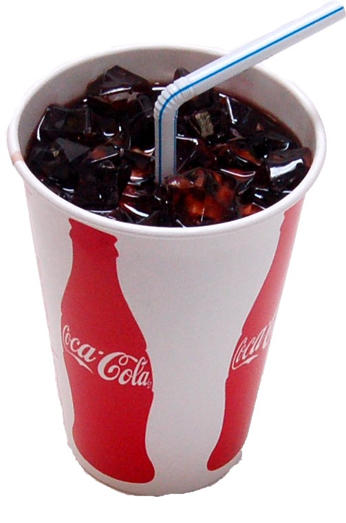 Cola Soda with Ice Paper Cup Fake Drink