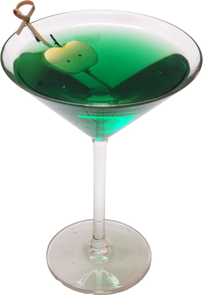 Green Apple Martini Polycarbonate Fake Drink