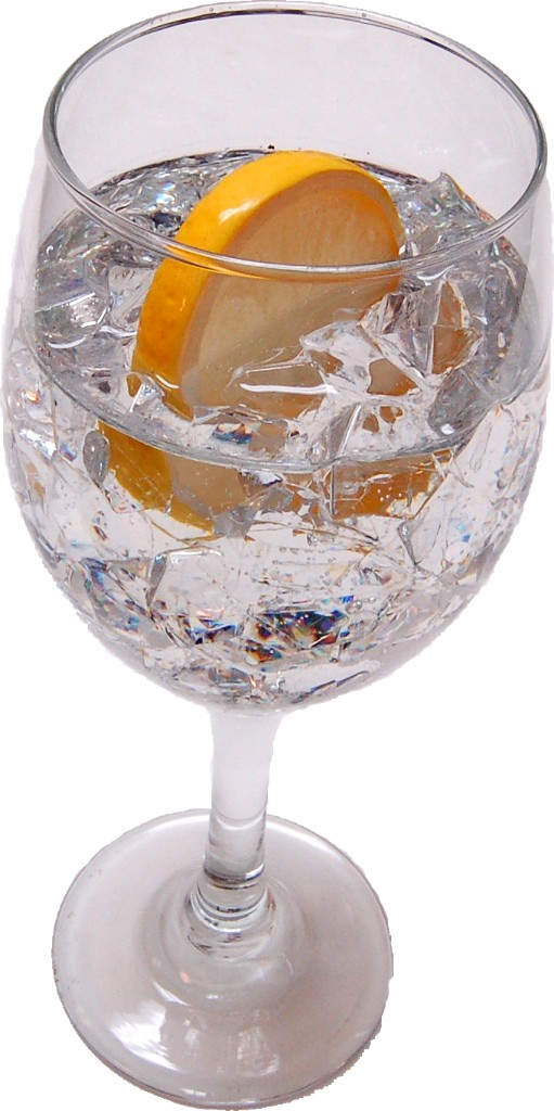 Ice Water fake drink Glass