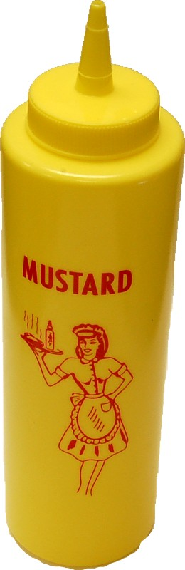 Fake Food Mustard bottles. Car hop tray accessories,Weighted bottles to reduce the chance of blowing over.