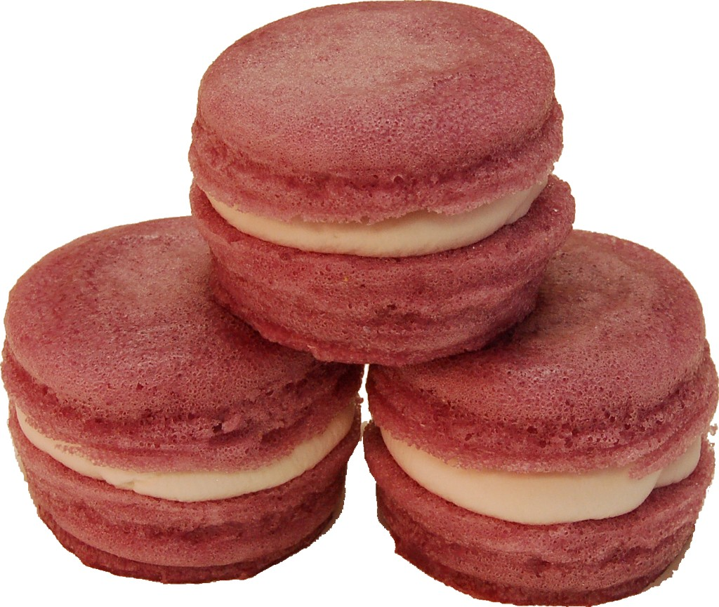 Mauve Fake Macaroon with Cream 3 Pack