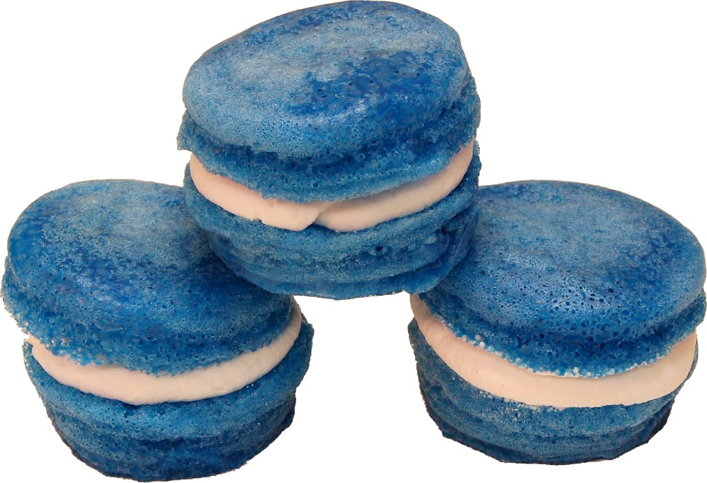 Blue Fake Macarons with Cream 3 Pack