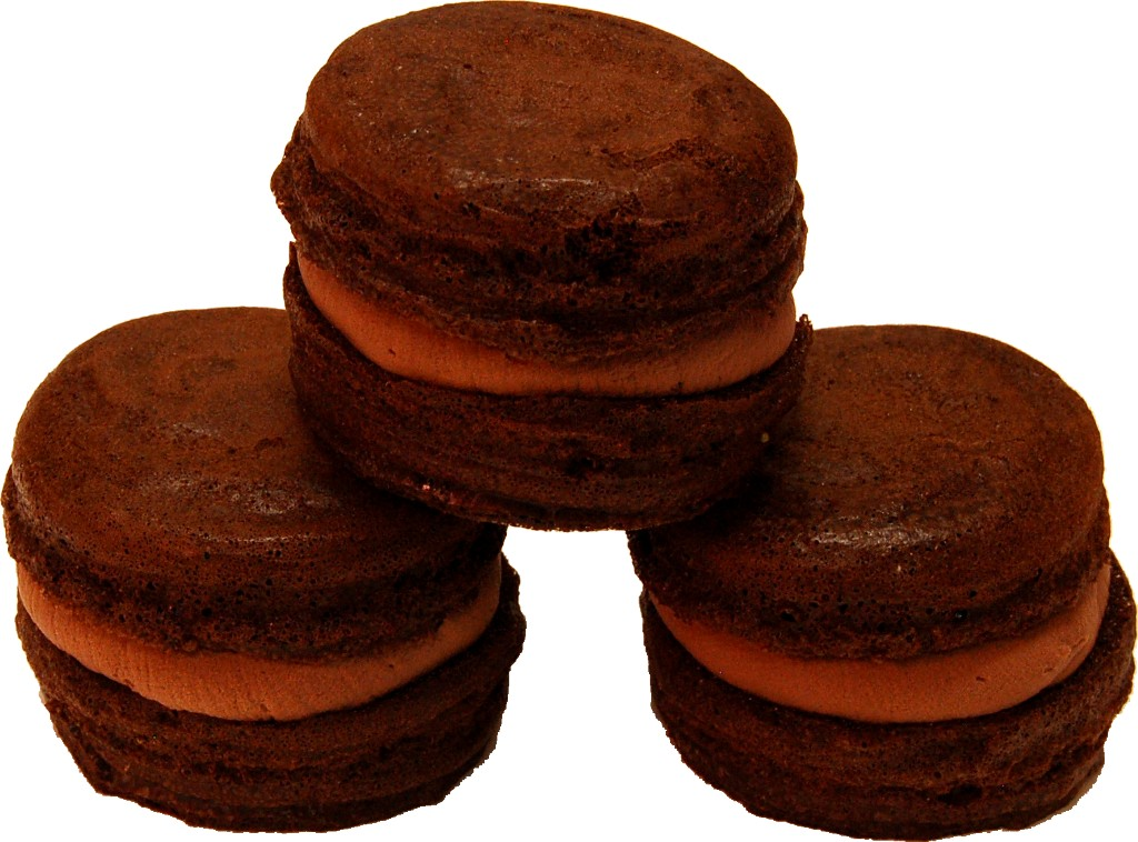 Chocolate Fake Macarons with Cream 3 Pack
