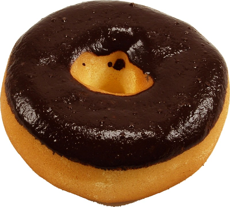 Large Chocolate Fake Doughnut Soft Touch