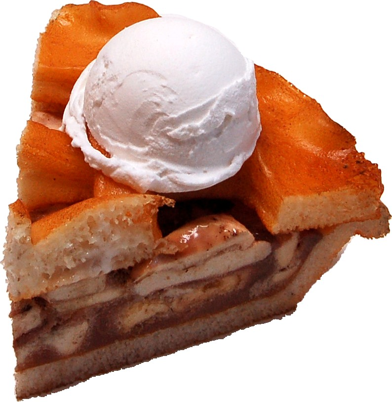 Apple Fake Pie Slice Ala Mode no plate