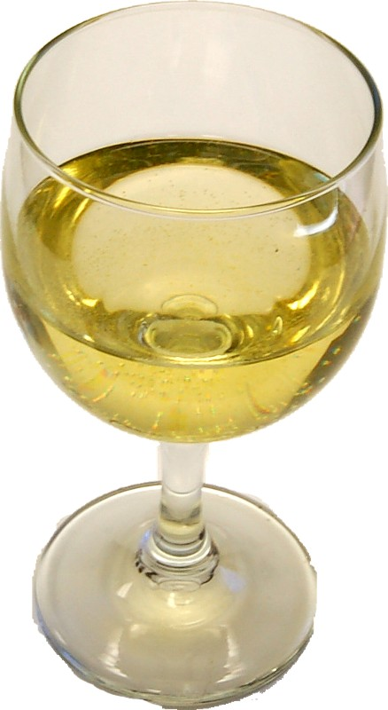 White Wine Glass fake drink