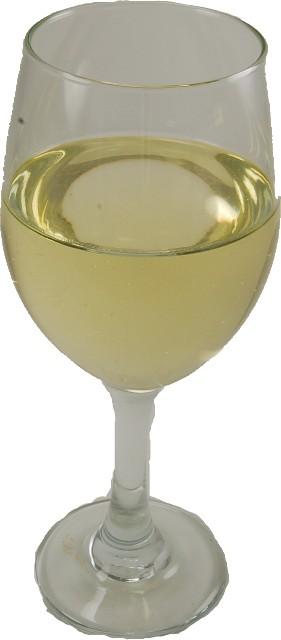 fake white wine glass