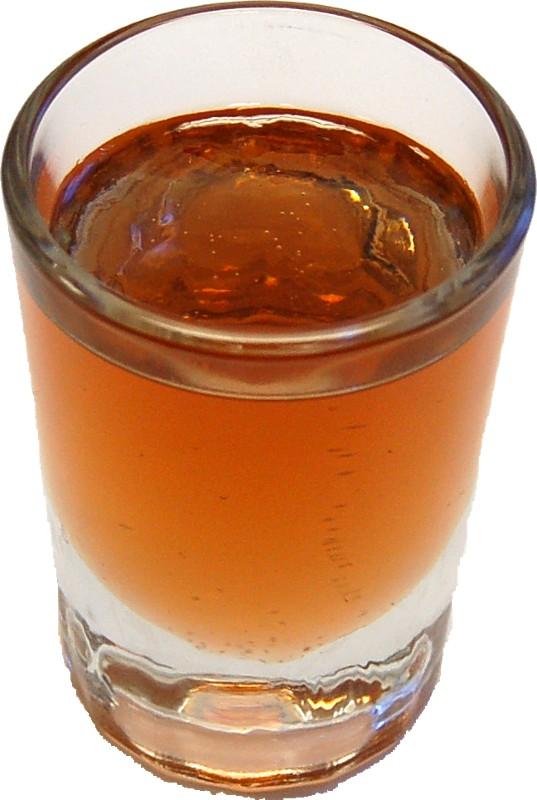 Whiskey Shot Round Glass fake drinks