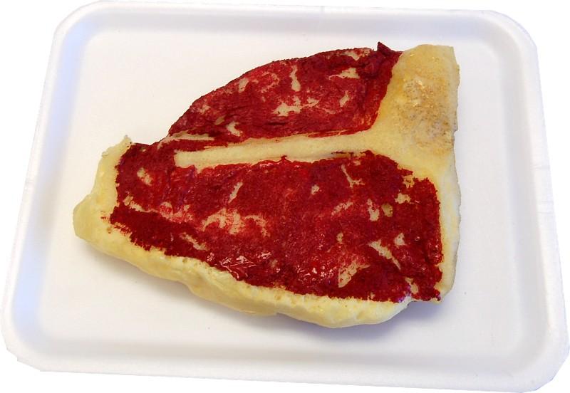 Raw Porterhouse fake Steak