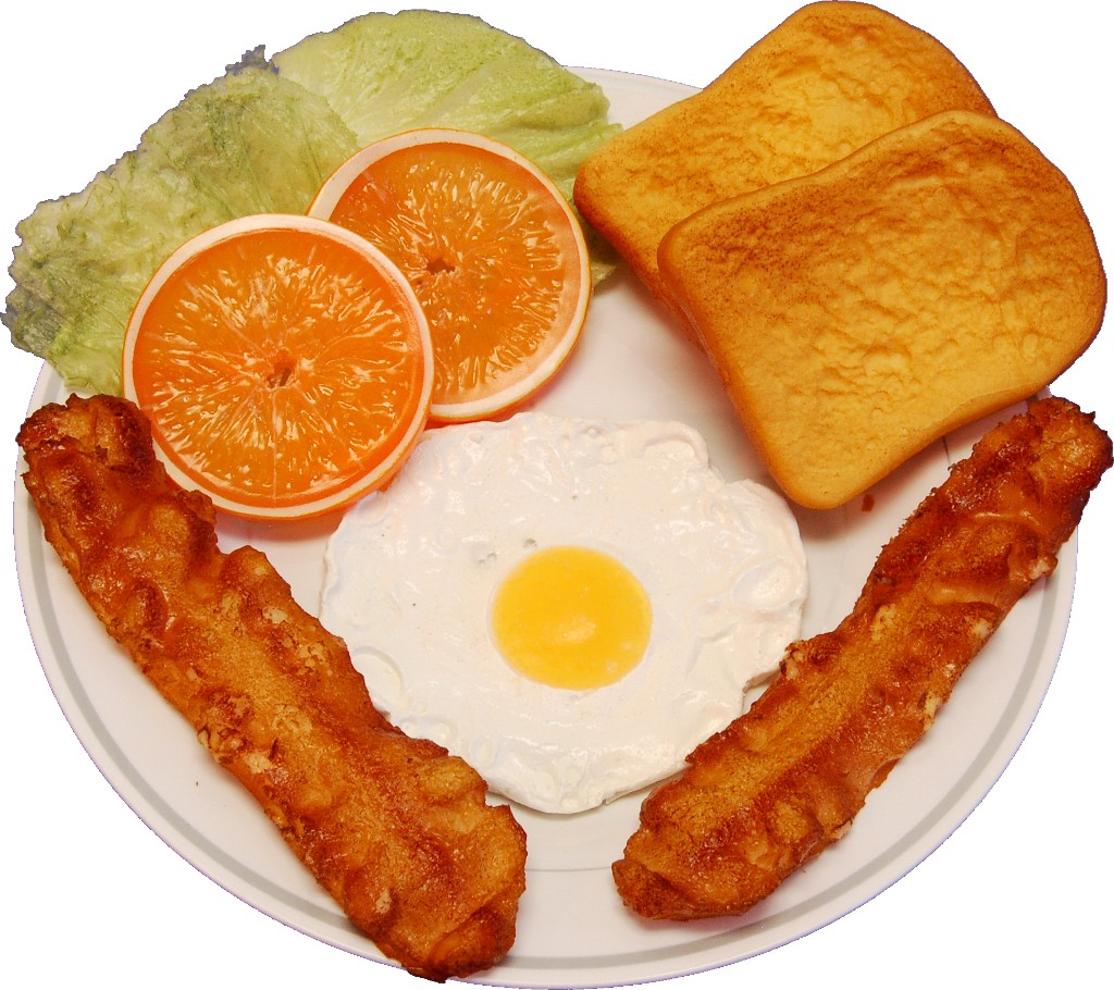 Fried Egg and Bacon Plate Fake Food