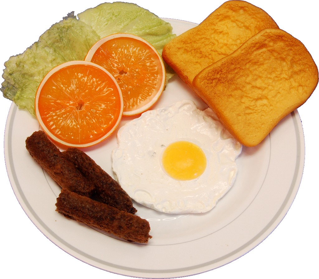 Fried Egg and Sausage Plate Fake Food