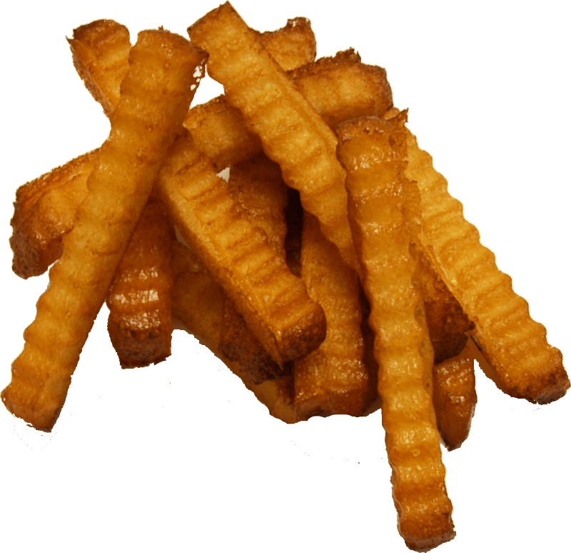 Crinkle cut fake french fries