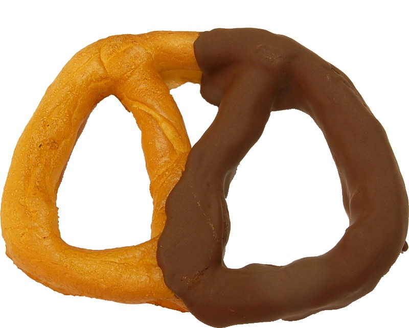 Pretzel Large 6 inch Half Dipped Chocolate