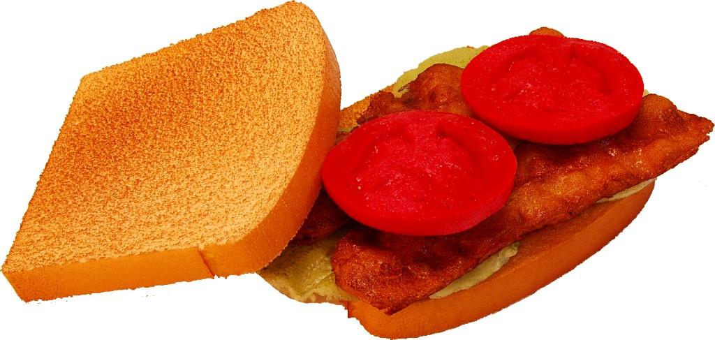 BLT Sandwich Fake Food open