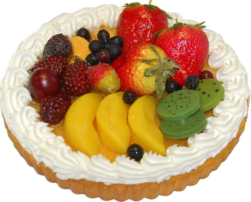 fake fruit tart mixed fruit