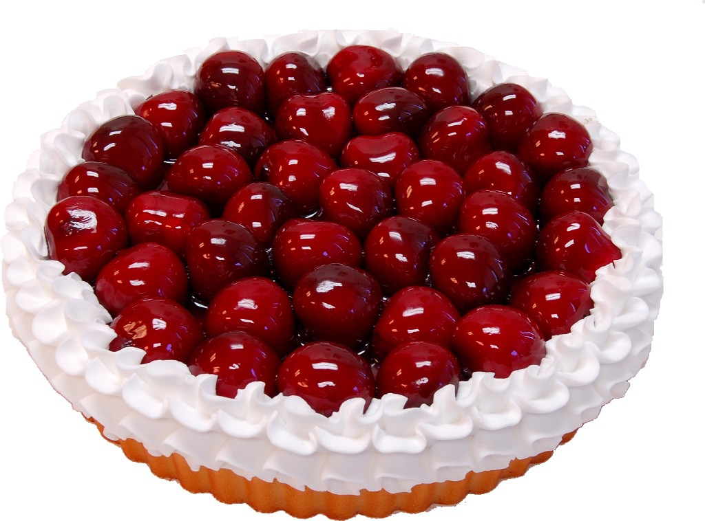 Cherry Fake Fruit Tart 8 inch