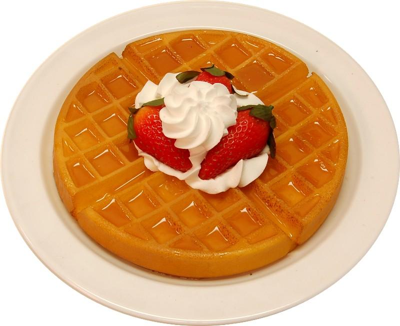 Strawberry Fake Waffle Plate