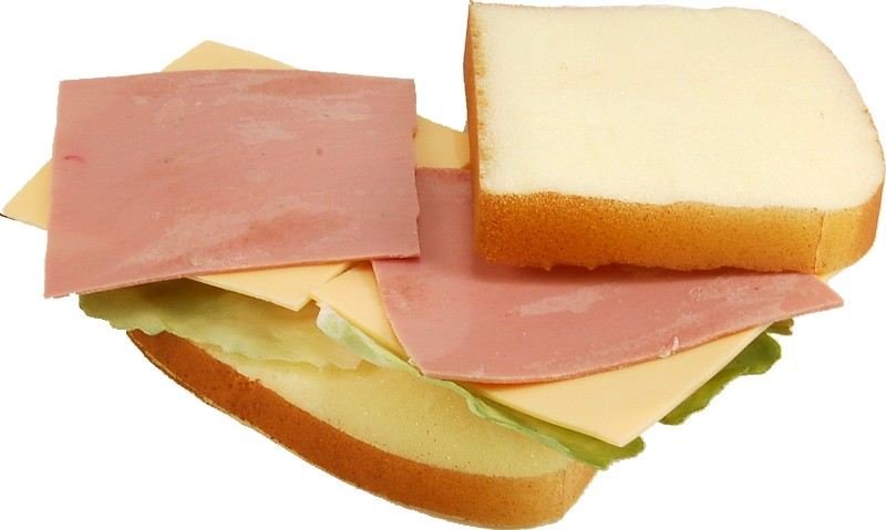 fake sandwich ham and cheese
