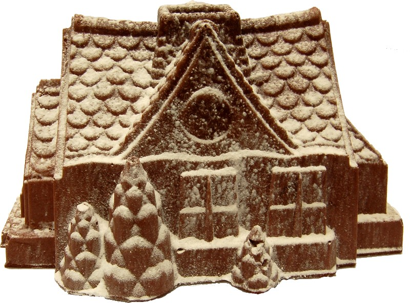 gingerbread house fake food a