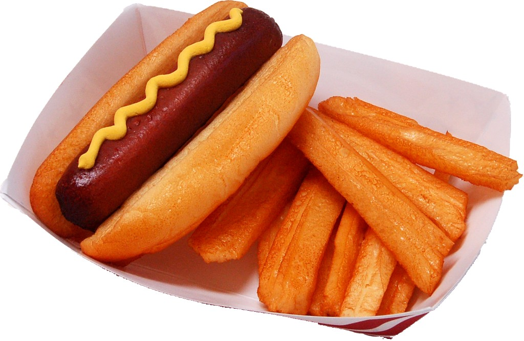 Hot Dog and Fries Tray