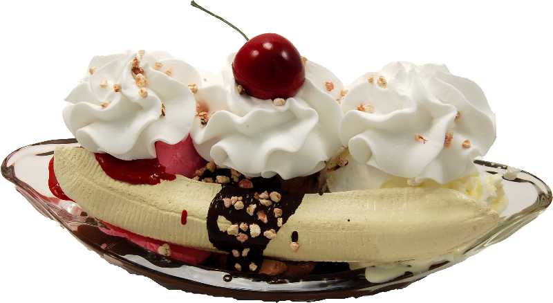 Fake Banana Split