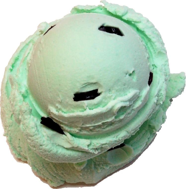 Mint Chocolate 2 Scoop Fake Ice Cream NO CONE top