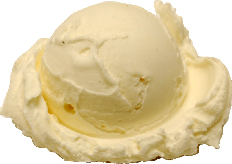 Vanilla fake single scoop ice cream
