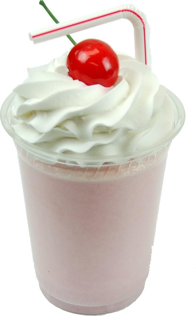 Strawberry Fake Food Milkshake Plastic Cup