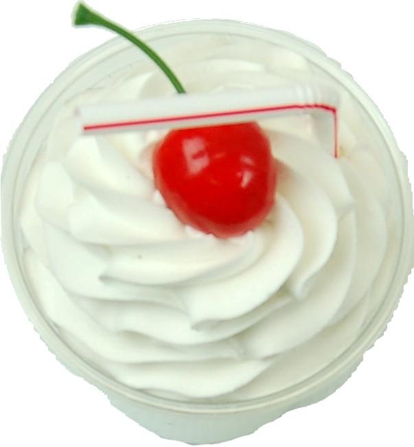Strawberry Fake Food Milkshake Plastic Cup top