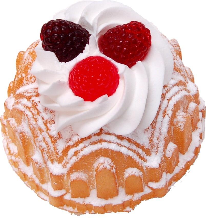 Small Vanilla Bundt Cake Raspberry Fake Dessert