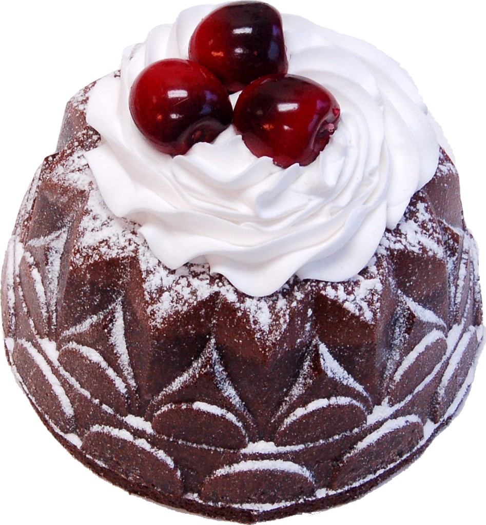 Large Bundt Cake Chocolate Cherry Fake Dessert