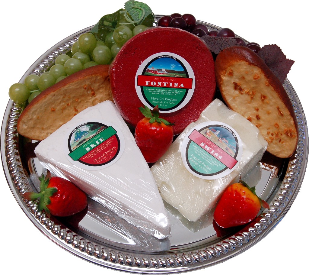 Cheese Tray 10 Piece Artificial Cheese Assortment