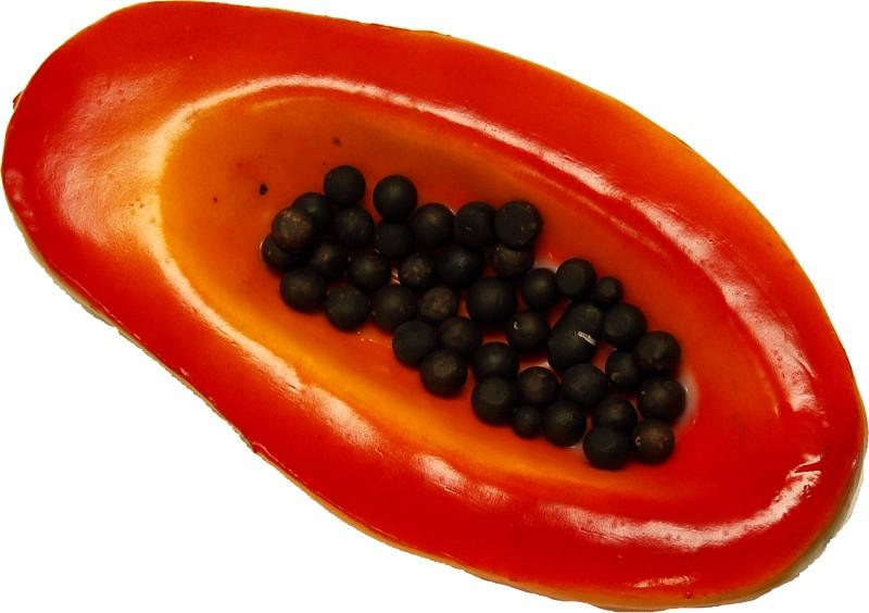 Papaya Half fake fruit