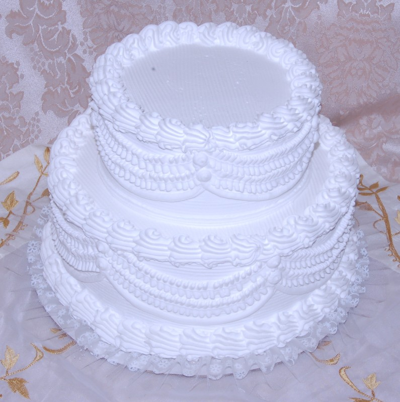 "Two tier Stacked 12"" Wedding Cake"