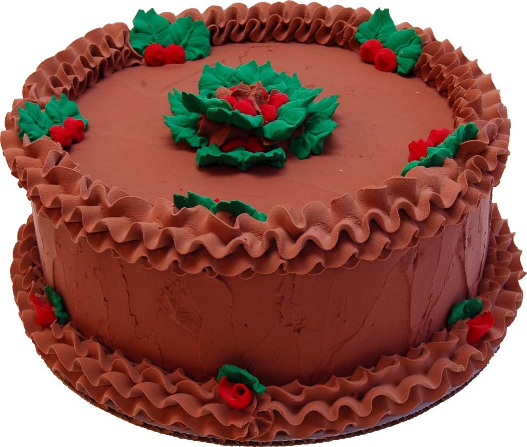 Christmas Holly Chocolate Fake Cake